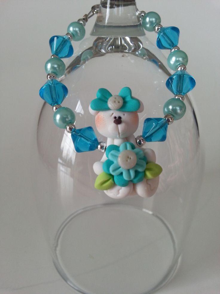 """""""Bracelet ourson"""", """"Bracelet fille"""", """"Bracelet ours blanc"""", """"Bracelet turquoise"""" : Bijoux enfants par bijouxlibellule"""