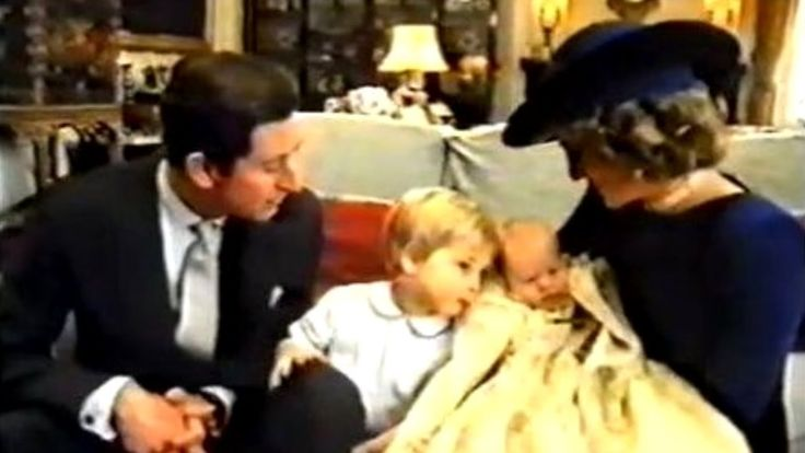 Princess Diana  Prince Charles with William  Harry on their Birth  Chris...