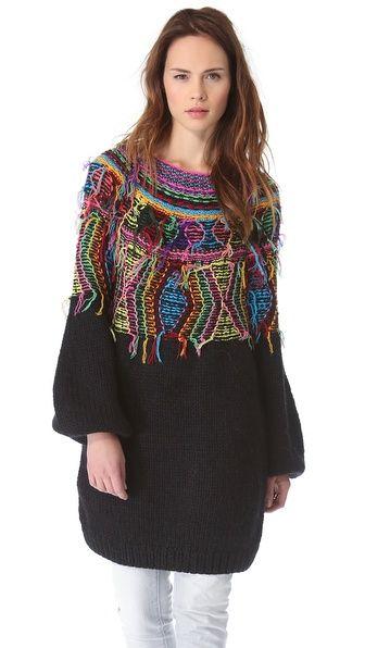 Mes Demoiselles Maya Neon Knit Sweater