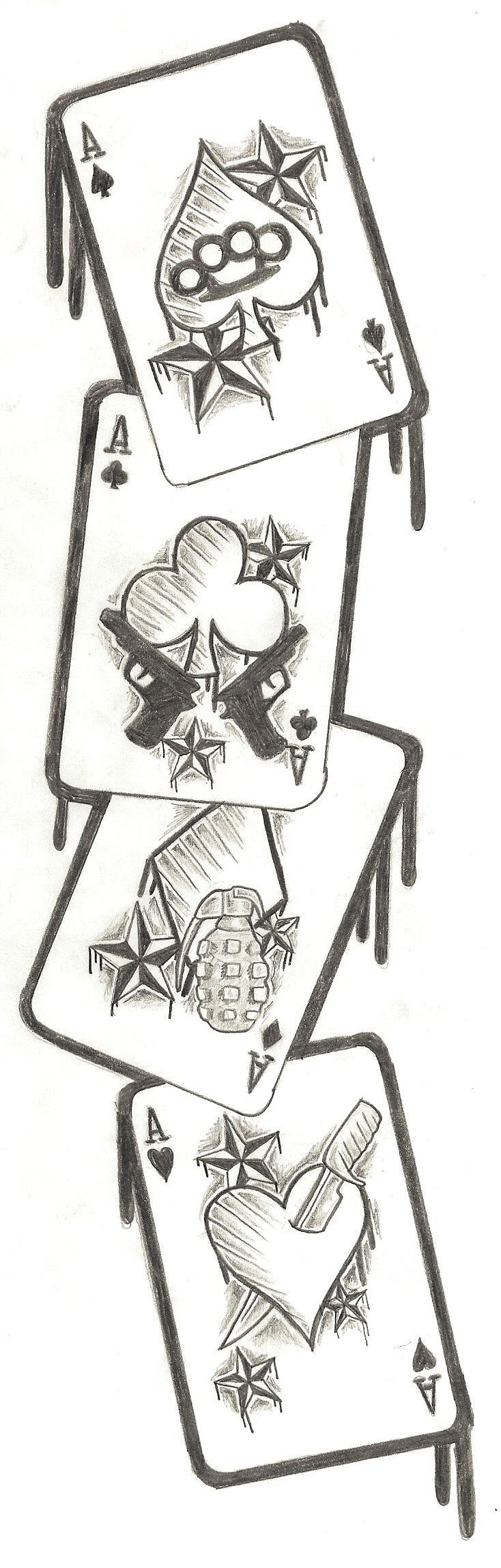 Cards Tattoo Design by ~Nixxxxx on deviantART This could be seriously awesome.