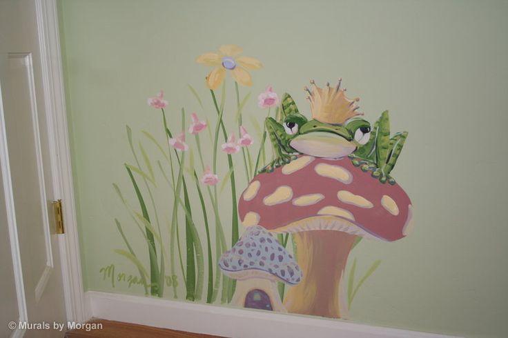 frog on mushroom stool