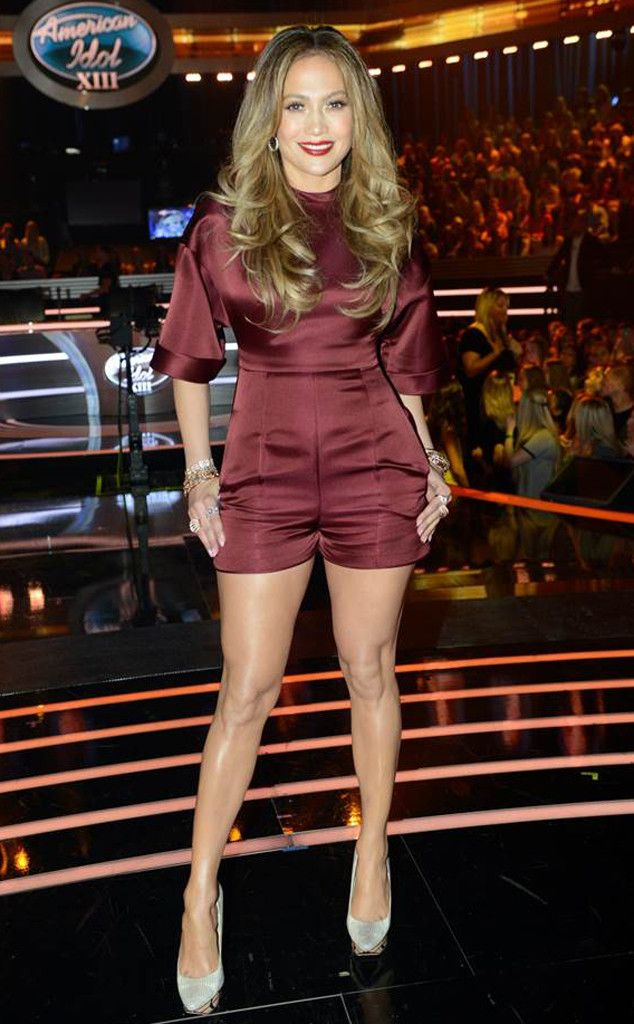 The One from Jennifer Lopez's American Idol Looks  If you thought rompers were for playgrounds, think again. This one clearly belongs on the red carpet.