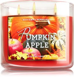 Pumpkin Apple 3-Wick Candle - Home Fragrance 1037181 - Bath & Body Works: