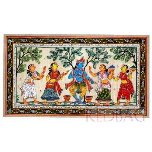 Krishna Patachitra Painting