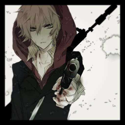 * the gun points at my head as i swallow gripping the fence behind me And my eyes fill with tears* dont shoot me its not worth it please dont..... ( open rp)