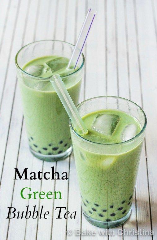 Matcha Green Bubble Tea                                                                                                                                                                                 More