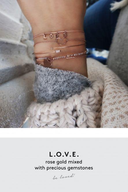 love armband rose gold aussergewoehnlich schmuck online kaufen