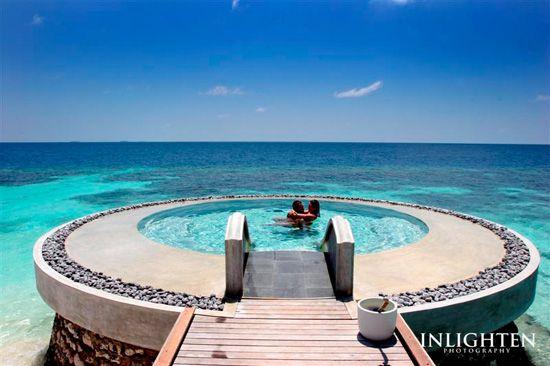 No idea where this is but it looks amazing!!  Fushi, Maldives