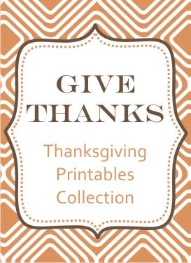 Thanksgiving printables from Clairebella