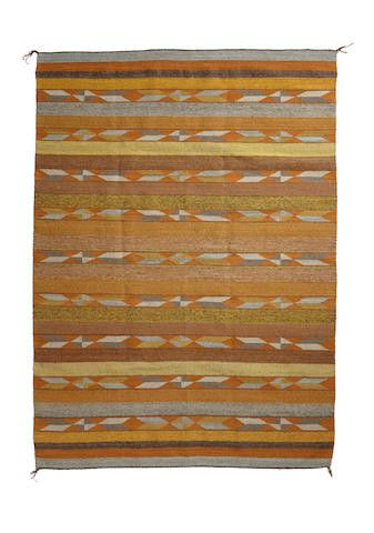 Native American, Large Navajo Crystal Rug/Weaving, by Mary Johnson, Ca 1970's