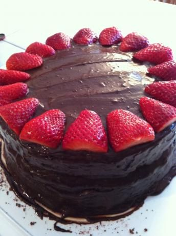 Chocolate Tres Leches Cake. (This is the actual cake I made!)