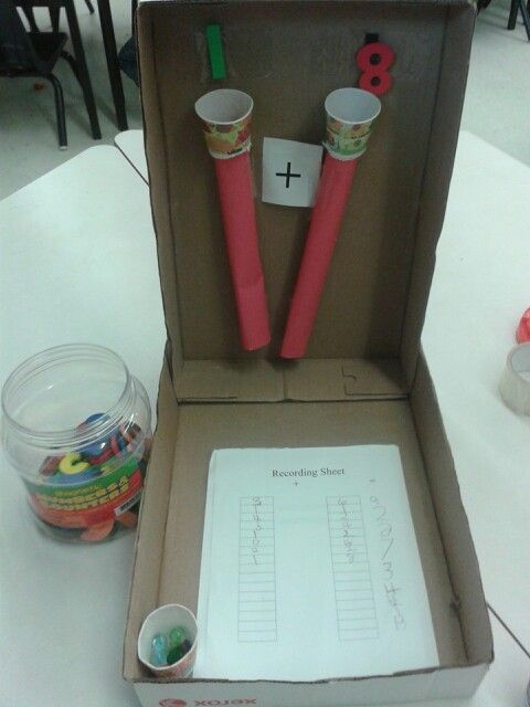 great idea!  Math center-kindergarten