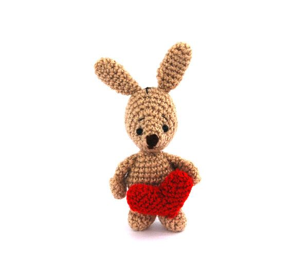 $32.32 SOME BUNNY LOVES you, bunny plush with #CrochetHeart, #giftfromhusband, gift for girlfriend, amigurumi bunny, stuffed rabbit, #handmadetoy