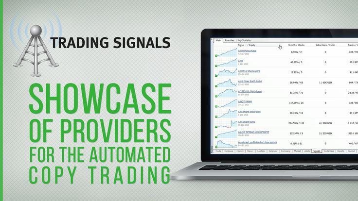 Trading Signals showcase in MetaTrader 4/5