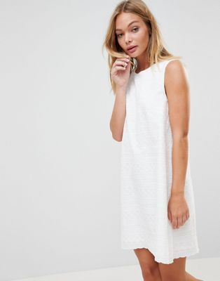 French Connection Bixa Broderie Shift Dress
