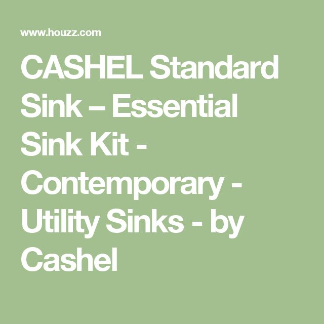 CASHEL Standard Sink – Essential Sink Kit - Contemporary - Utility Sinks - by Cashel