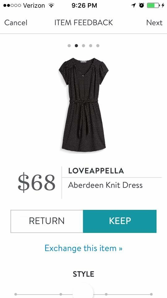 (Loveappella Aberdeen Knit Dress). I love Stitch Fix! A personalized styling service and it's amazing!! Simply fill out a style profile with sizing and preferences. Then your very own stylist selects 5 pieces to send to you to try out at home. Keep what you love and return what you don't. Only a $20 fee which is also applied to anything you keep. Plus, if you keep all 5 pieces you get 25% off! Free shipping both ways. Schedule your first fix using the link below! #stitchfix @stitchfix…