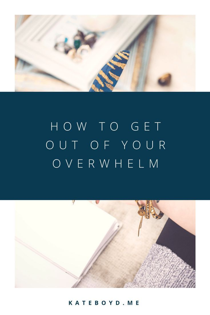 How to Get Out of Your Overwhelm | Kate Boyd - Business Coach + Messaging Strategist