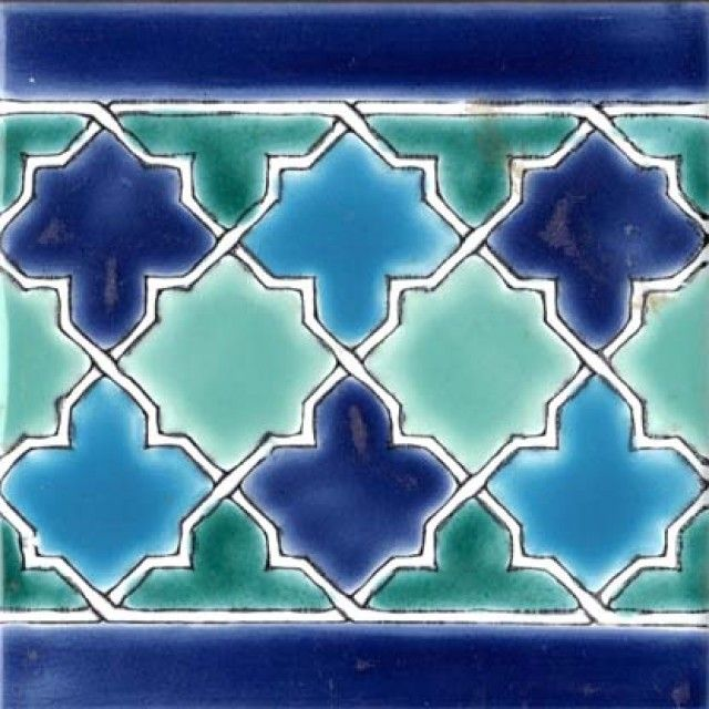malaga border 6x6 moroccan ceramic tile