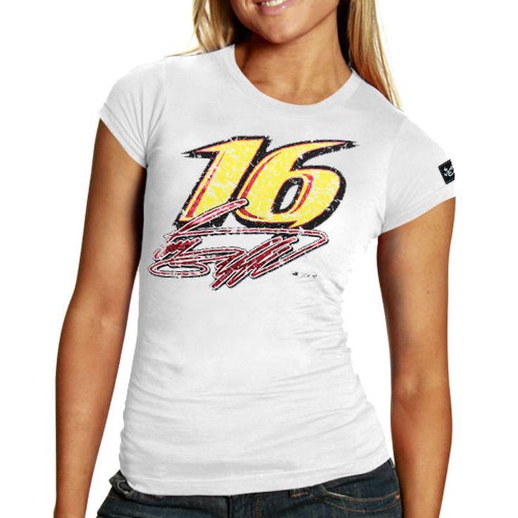 Chase Authentics Greg Biffle Women's Big Number T-Shirt - White