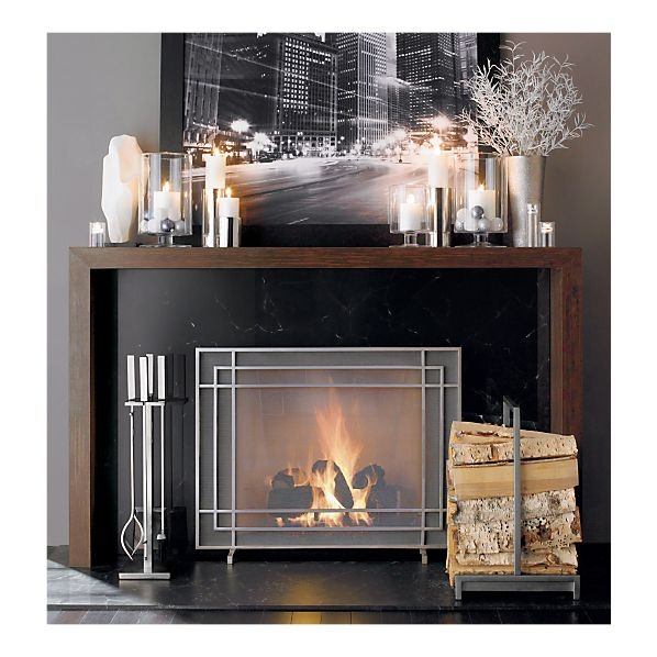 I Think We Found The Perfect Fireplace Screen And Accessories For Living Room