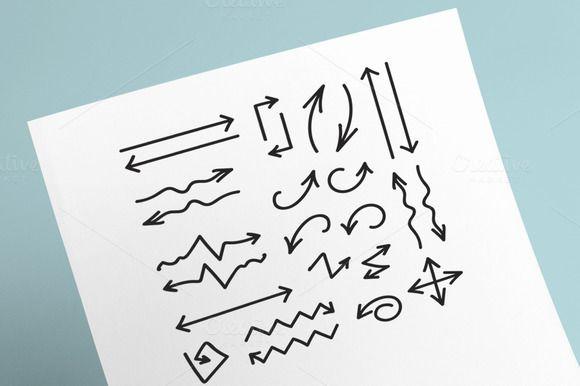 26 Hand Drawn Arrows by barsrsind on @creativemarket