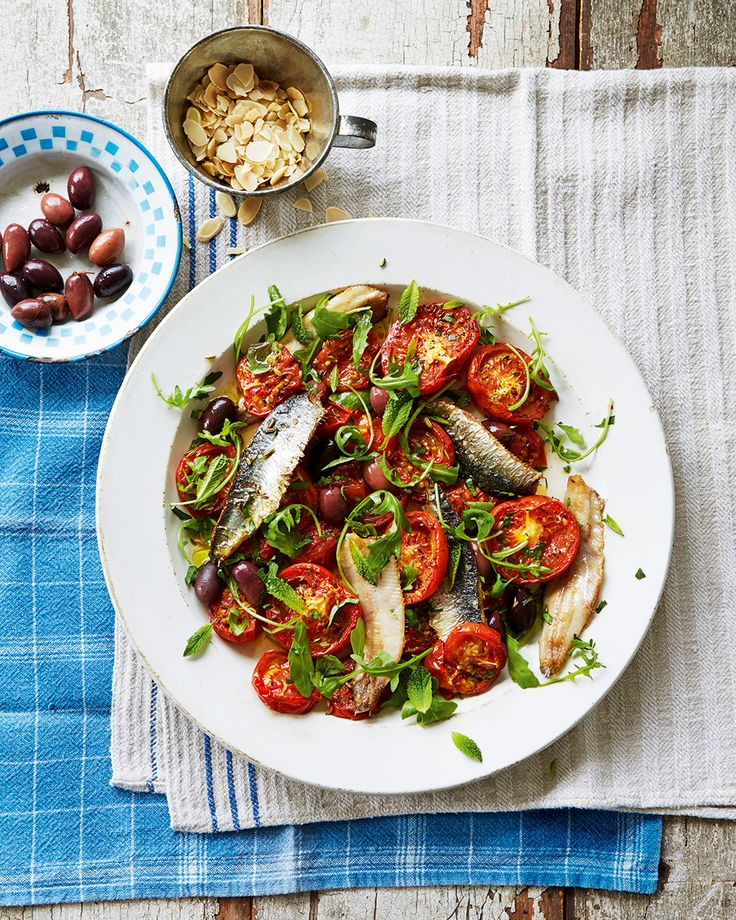 Valentine Warner's recipe for this roasted tomato and sardine salad makes for the perfect summer lunch.