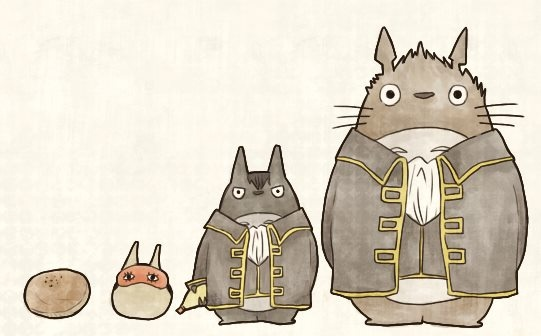 Totoro Shinsengumi! 銀魂 Gintama  Hijikata Totoro, okay.