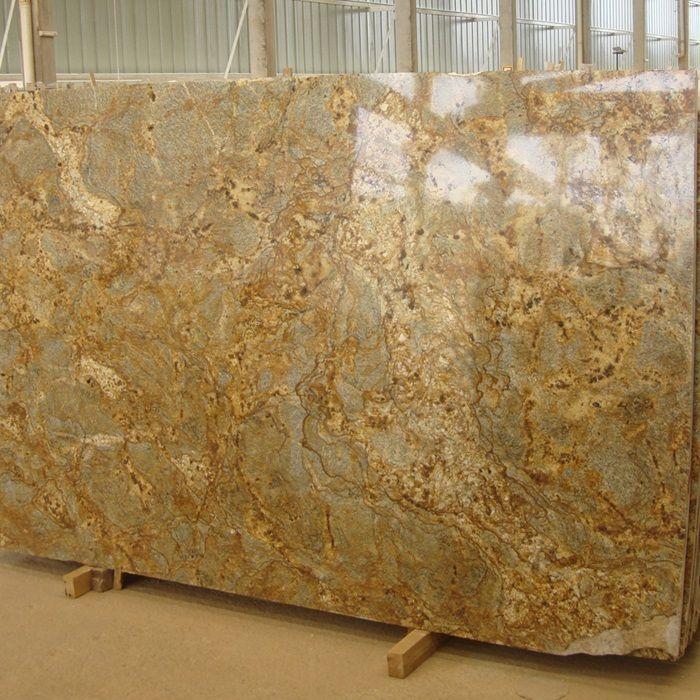 Crystalline Stone Slabs : Golden crystal natural stone granite slab arizona tile