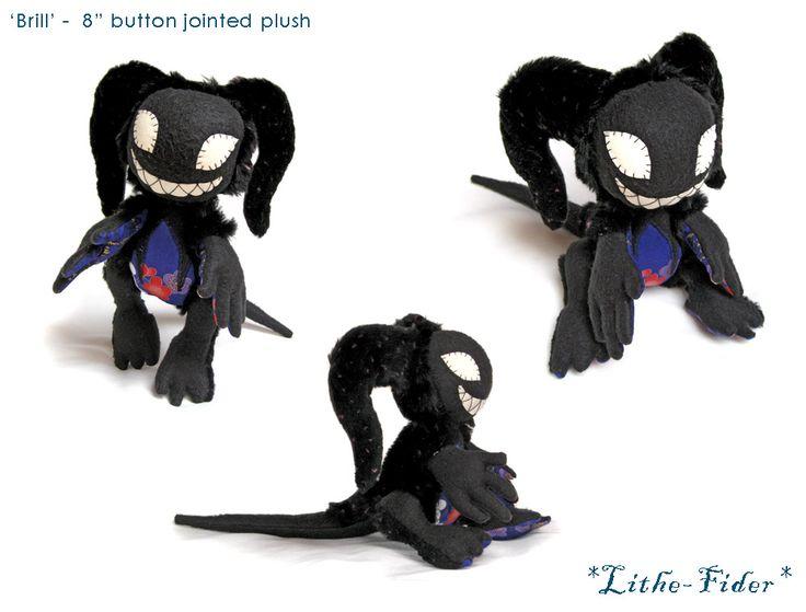 Jointed Plush Imp 'Brill' by Lithe-Fider.deviantart.com on @DeviantArt