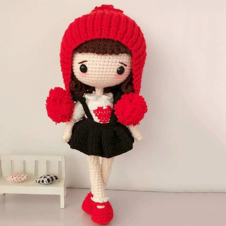 Cute girl doll amigurumi