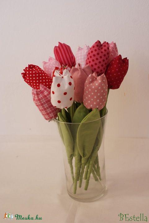 nagy csokor tavaszi tulipán vegyes színekkel, Dekoráció, Húsvéti apróságok, Meska