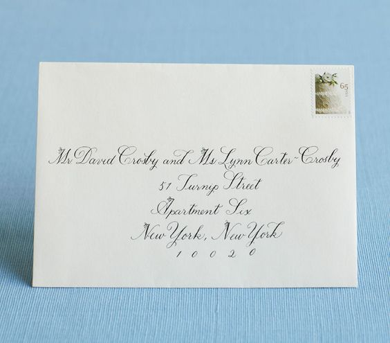 How to address wedding invitations for How to address wedding invitations single envelope