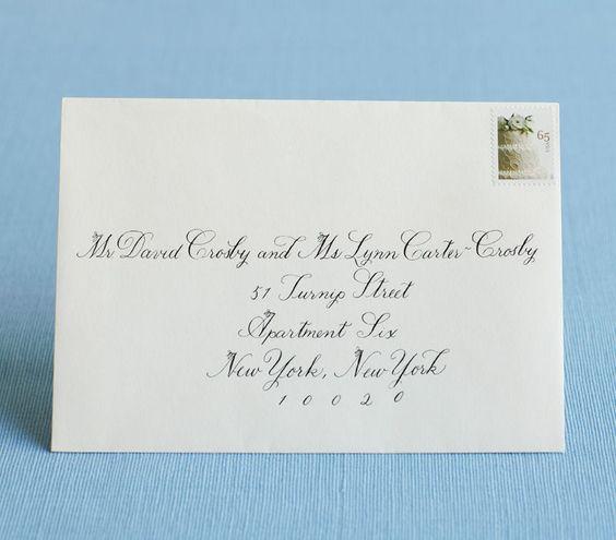 Good Addressing Wedding Invitations Etiquette Family