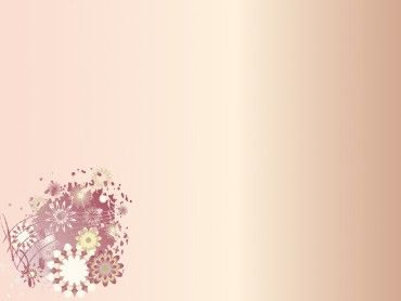 Cute Floral Corner PPT backgrounds design