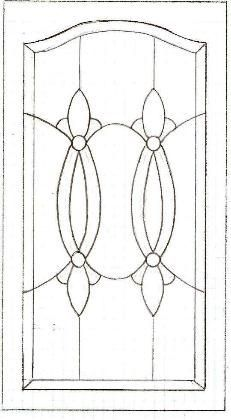 celtic glass cabinet design - Google Search
