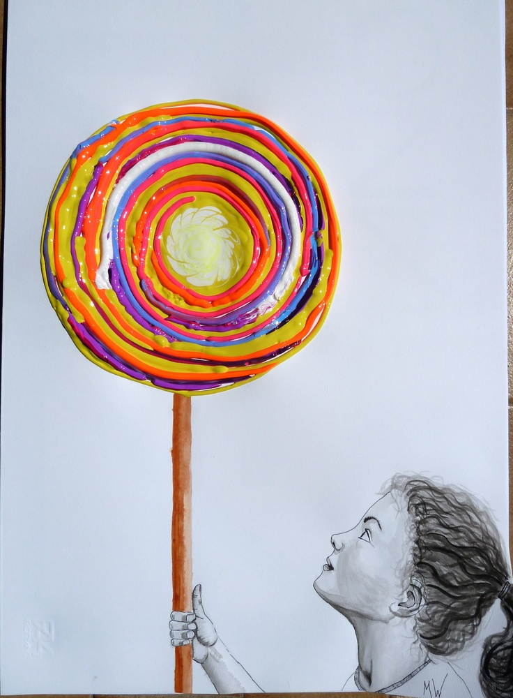 """Lollypop Giddy-up"" painting. Gorgeous by MW"