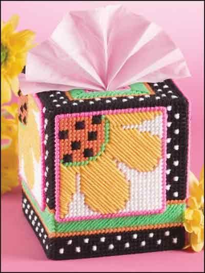 Cute daisy tissue box cover.