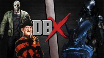 Freddy and Jason vs alien and Predator movie horror terror peliculas de terror.