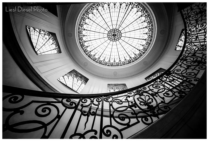 High Quality Craven Estate Spiral Staircase Wedding Portrait Location Los Angeles  Pasedena Architecture Black And White Stairs Dome Mirror Stained Glass  Liesl Du2026