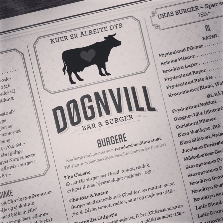 Døgnvill, best burger joint in Oslo, Norway