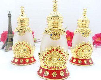 15ml Elegant Empty Perfume Bottle/ Glass Bottle/ Vintage Hollow Out Style Perfume Essential Oil Bottle/Cosmetic Jar 186