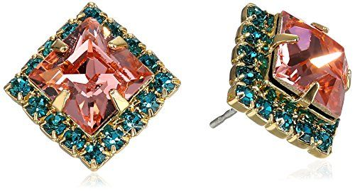 """Sorrelli  """"Caribbean Coral"""" Perfectly Pointed Post Earrings"""
