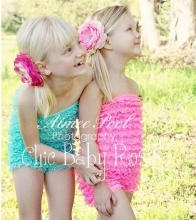 Chic Baby Rose big girl Petti Rompers. Great photo prop, or birthday outfit. Handmade in the USA.