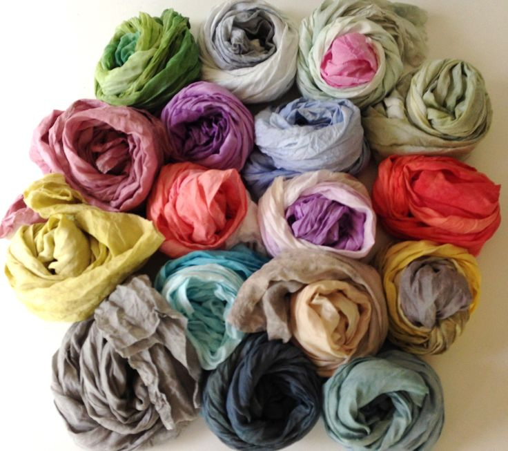 Beautiful hand dyed silk scarves #morphingpot #fashion #madeinitaly #handdyed