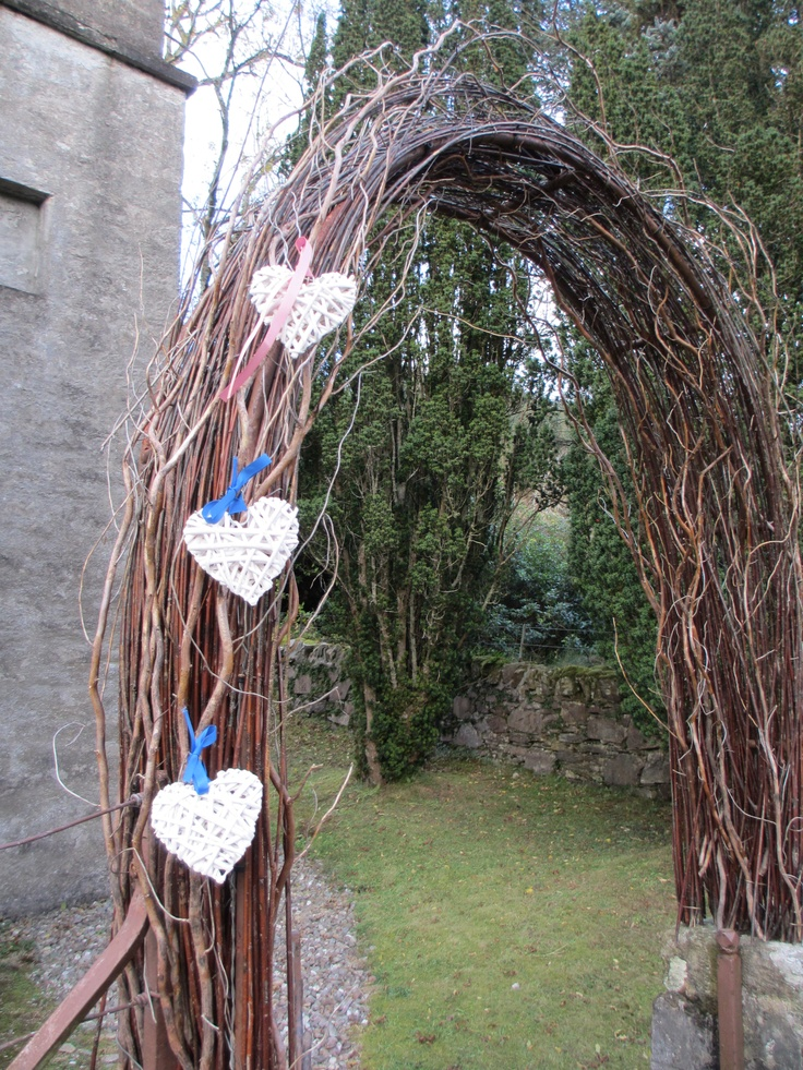 the start of the hearts on the willow arch....