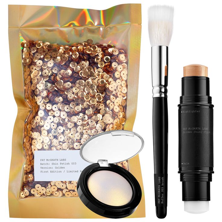 Shop Pat McGrath Labs' Skin Fetish 003 at Sephora. This trio has a highlighter balm duo, brush, and pigment for perfect highlighting.