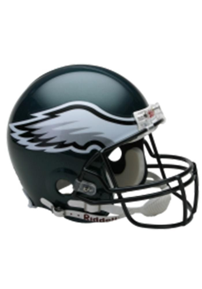 Philadelphia Eagles Authentic Full Size Football Helmet Image 1 Philadelphia Eagles Helmet Eagles Helmet Philadelphia Eagles Football