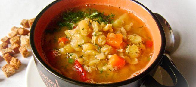 Постный гороховый суп ======================== Гороховый суп можно вкусно сварить и в постном формате - на воде, без масла. Гарантируем :-)