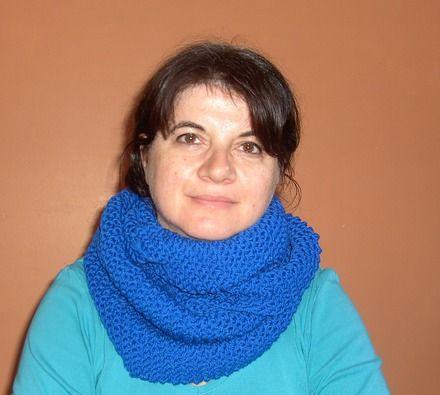 Echarpe snood, très douce, tricotée main, en 100% laine d'agneau pour femme